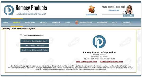 Ramsey's Drive Selection Program Now Available Online! - Ramsey Products